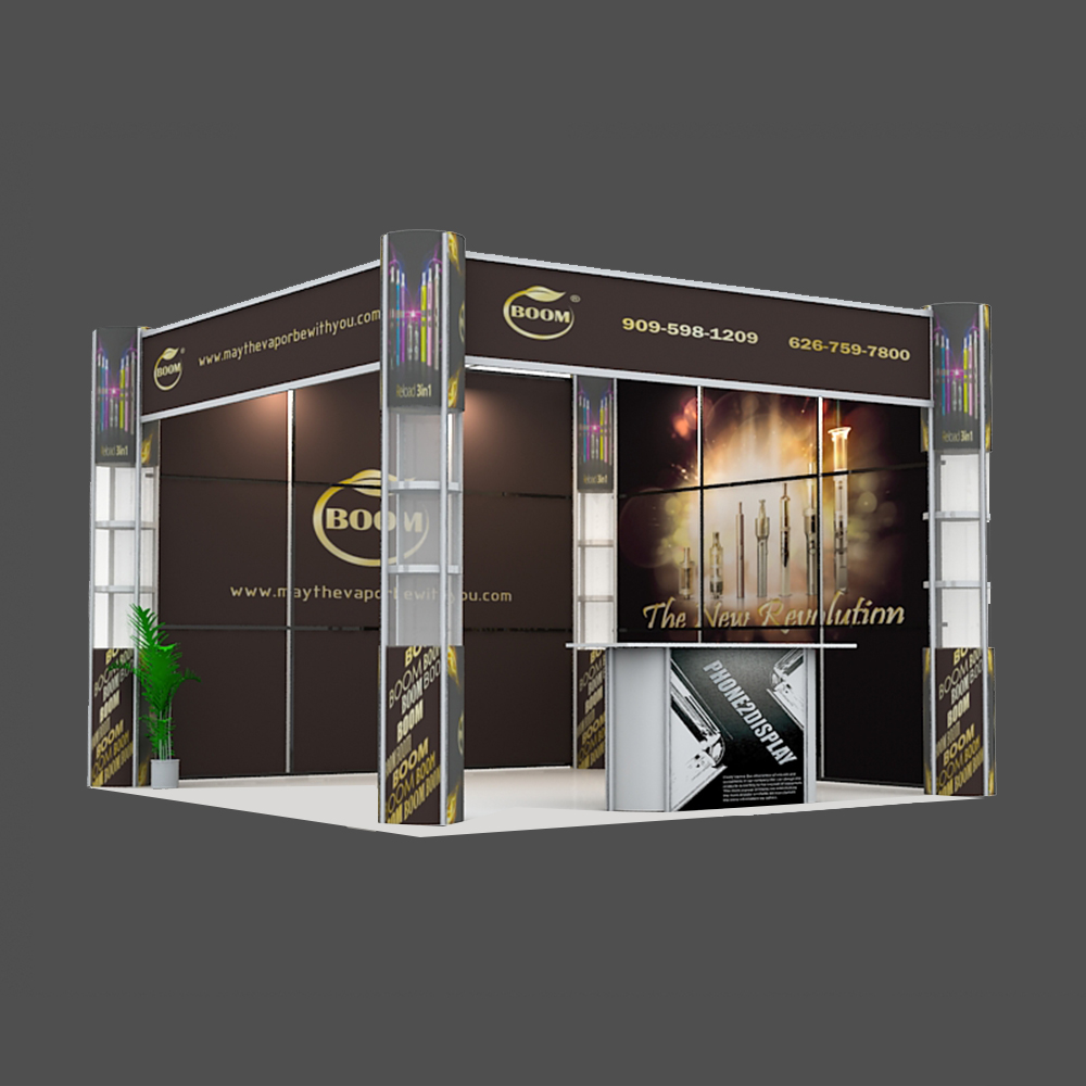 10ft folding column booth/L style