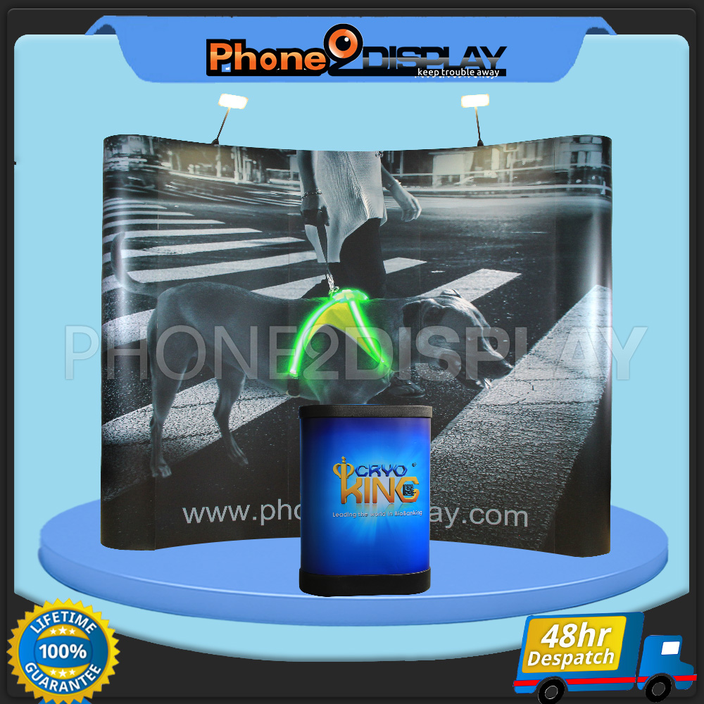 3x4 magnet pop up display booth/curved