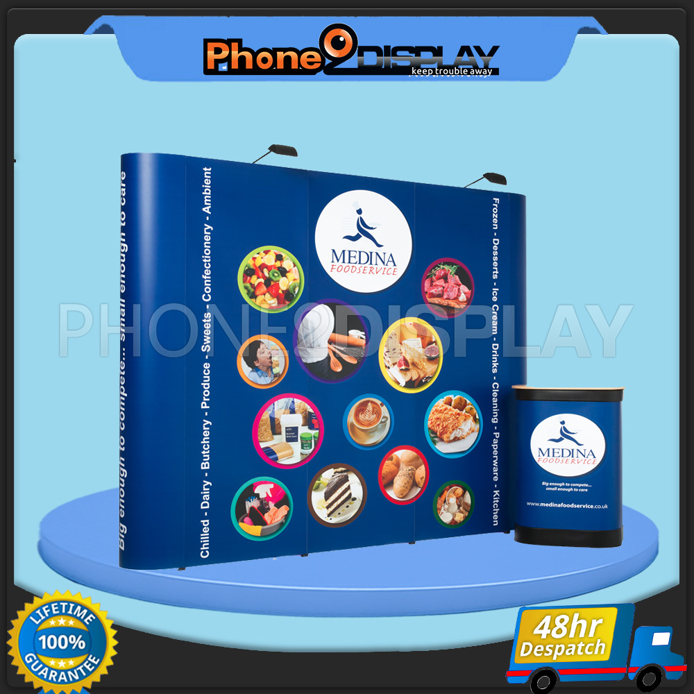 3x4 magnet pop up display booth/straight