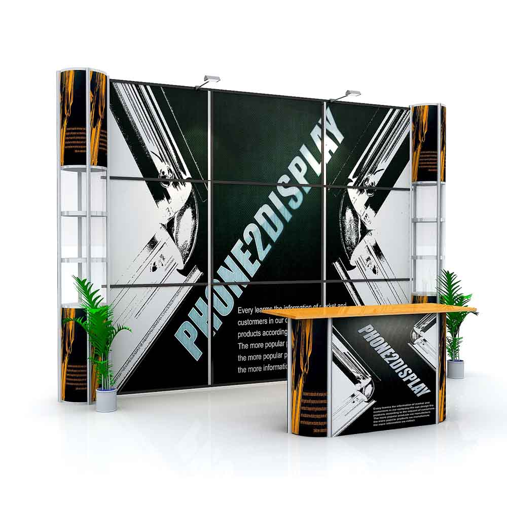 3x3m pop up showcase booth/standard straight