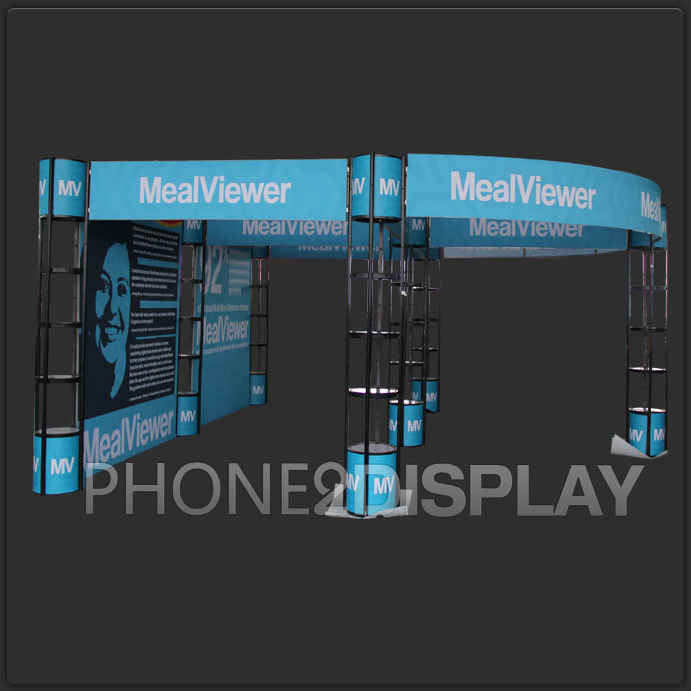 20x20ft folding column booth
