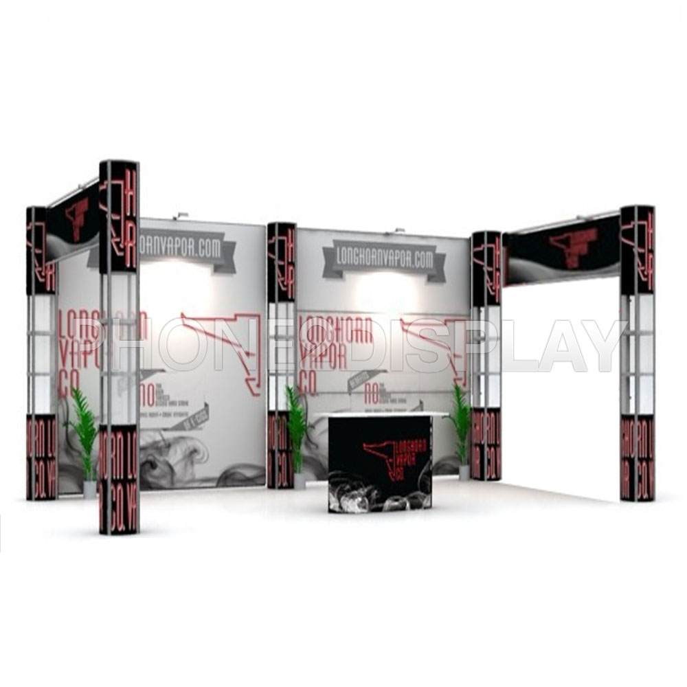 20x10ft folding column booth/straight style