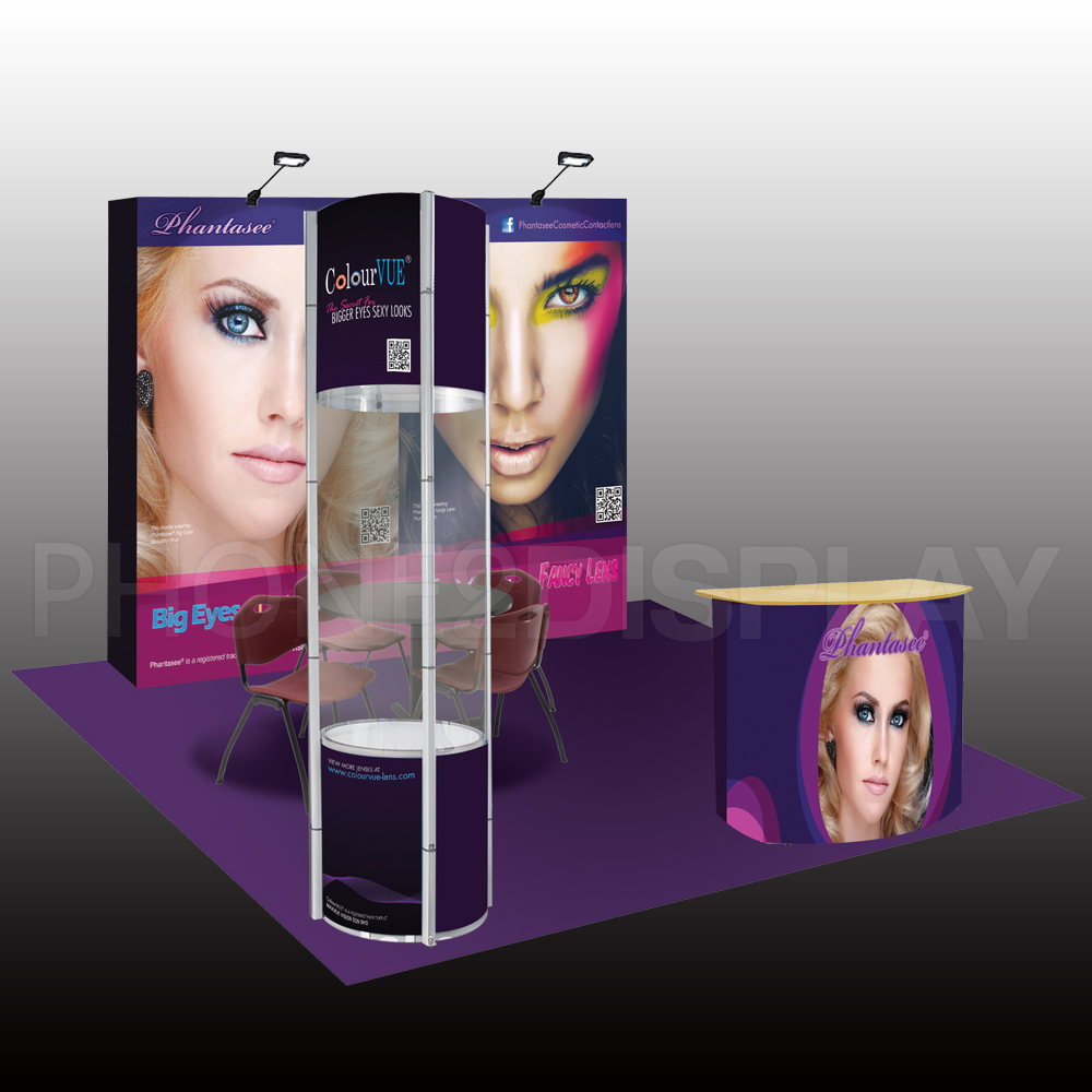 3x3m pop up showcase booth/1 open