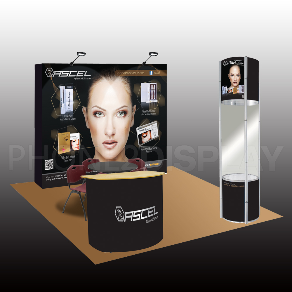 3x3m top sale fabric booth/tower showcase
