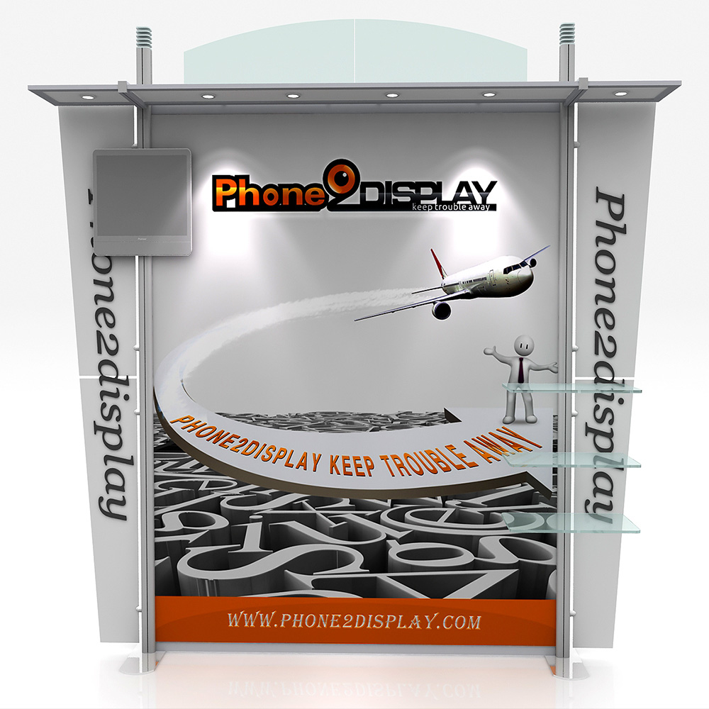 10ft aluminum exhibition booth