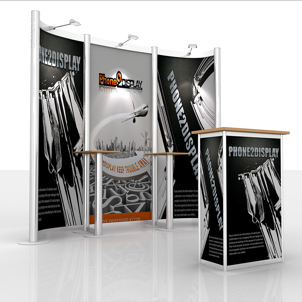 10ft aluminum exhibition booth/with counter