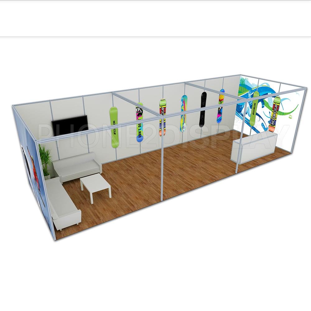6x9m extrusion aluminum booth