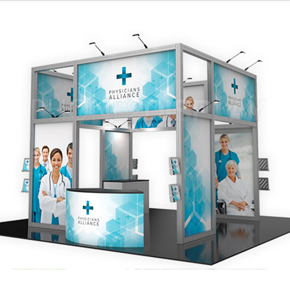 20x20ft extrusion aluminum frame booth/Dentist