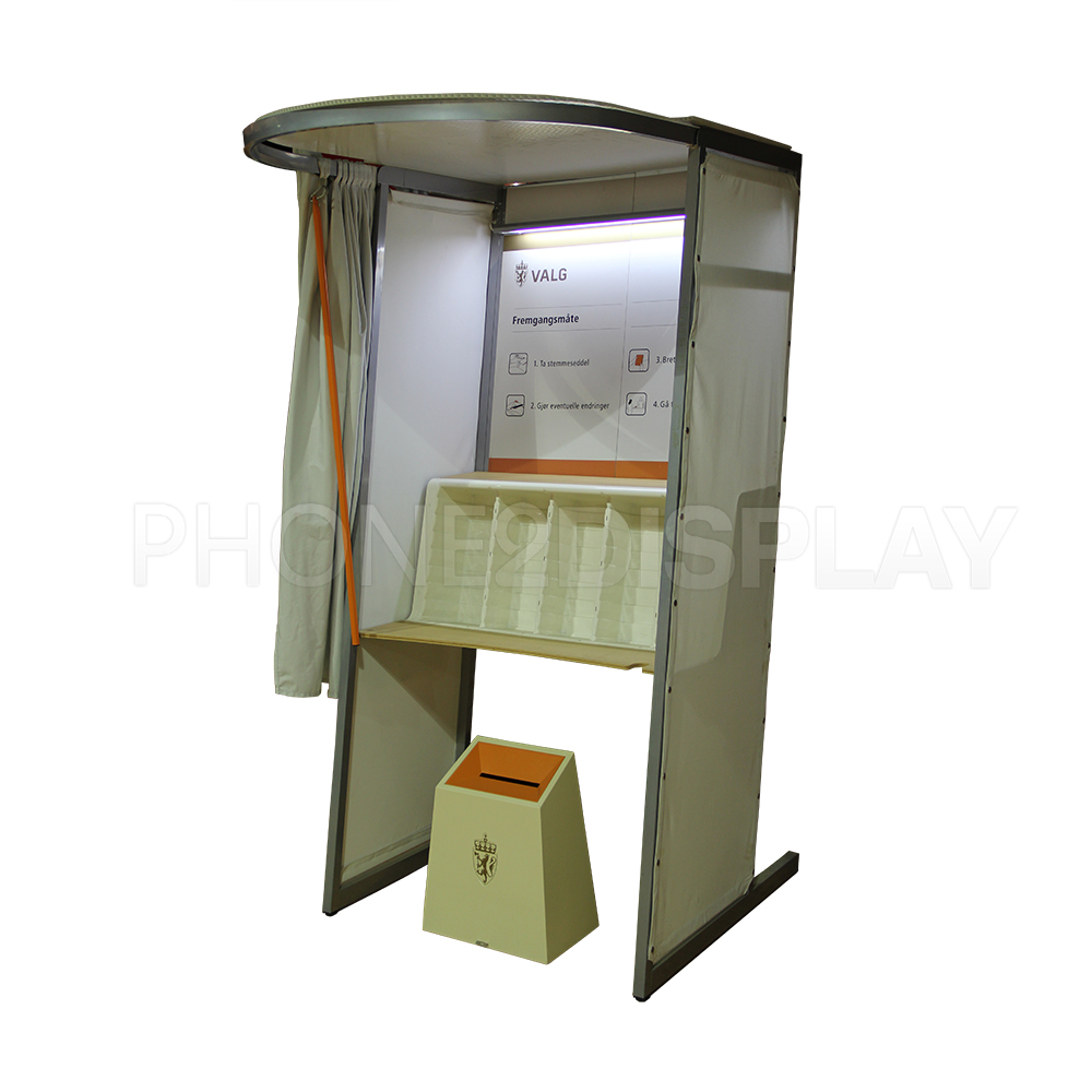 Portable design election booth