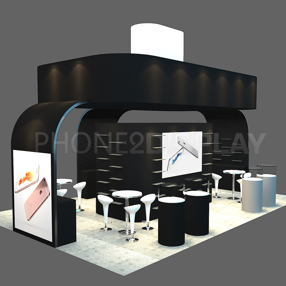 20*30ft extrusion frame booth/ with hanging banner/CES booth